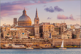 Neale Clarke - Valletta at sunset