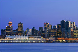 Rob Tilley - Vancouver skyline at night