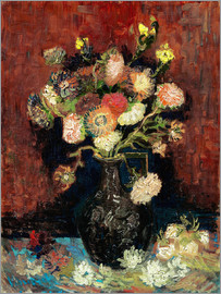 Vincent van Gogh - Vase with Chinese Asters and Gladioli