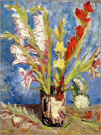 Vincent van Gogh - Vase with gladioli and China asters