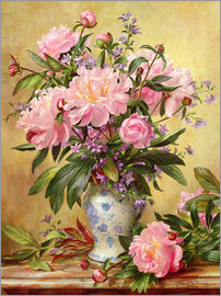 Albert Williams - Vase of Peonies and Canterbury Bells