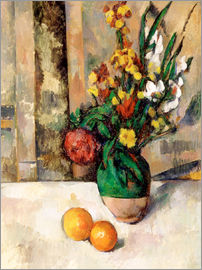 Paul Cézanne - Vase and apples