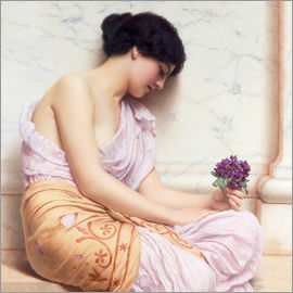 John William Godward - Violets, sweet violets