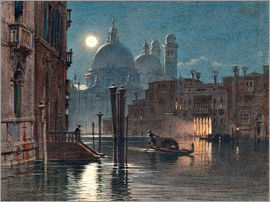 Carl Friedrich Heinrich Werner - Venice at moonlight