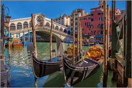 Fine Art Images - Venice Gondola at Rialto bridge