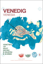 campus graphics - Venice city motif card