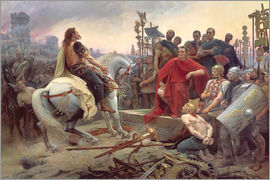 Lionel Noel Royer - Vercingetorix throws down his arms at the feet of Julius Caesar