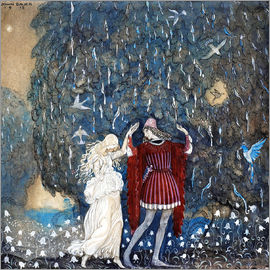 John Bauer - Lovers on a walk