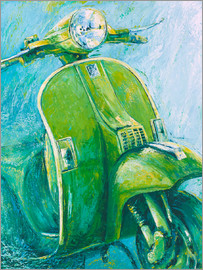 Renate Berghaus - Vespa green