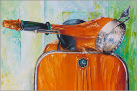 Renate Berghaus - Vespa orange
