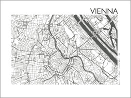 44spaces - VIENNA STREET-MAP steelgrey