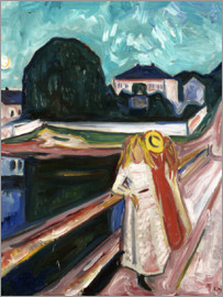 Edvard Munch - The Girls on the Bridge