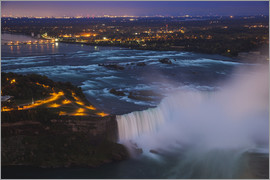Jane Sweeney - View of Horseshoe Falls, Niagara Falls, Niagara, border of New York State, and Ontario, Canada, Nort