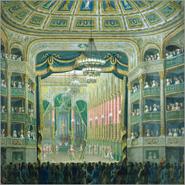 French School - View of the Stage of the Paris Opera