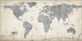 World map prints posters from 695 free delivery posterlounge vintage world map poster gumiabroncs Gallery