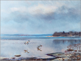Bruno Andreas Liljefors - birds by the shore