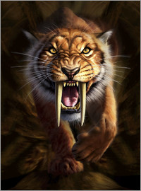 Jerry LoFaro - Full on view of a Saber-toothed Tiger