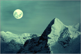 Gerhard Albicker - Full Moon on the Eiger