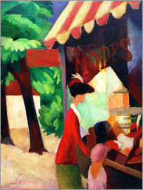 August Macke - Before Hat Shop