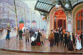 Jean Beraud - Before Vaudeville Theatre in Paris