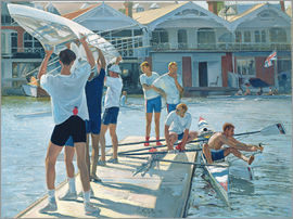 Timothy Easton - Preparation for rowing