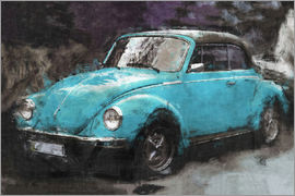 LoRo-Art - VW käfer blue