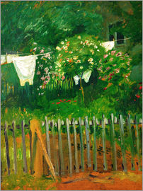 August Macke - Laundry in the garden in Kandern