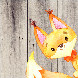 UtArt - Woodland friends- fox - animal