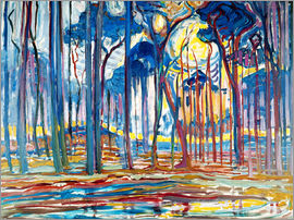 Piet Mondrian - Forest Landscape in Oils