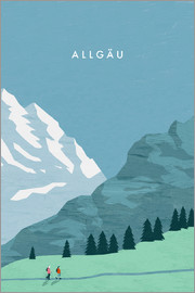 Katinka Reinke - Hiking in the Allgäu illustration