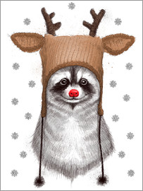 Nikita Korenkov - Raccoon in Deer Hat