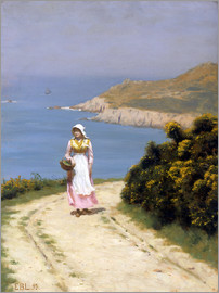 Edmund Blair Leighton - Path along the cliffs