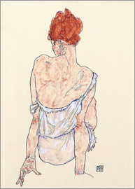 Egon Schiele - Female back