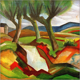 August Macke - Willows by the Brook