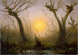 Caspar David Friedrich - Willows low sun