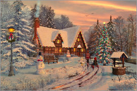 Dominic Davison - Old Christmas Cottage
