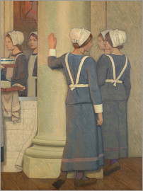 Frederick Cayley Robinson - Wellcome (Detail)