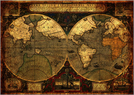 Michaels Antike Weltkarten - World 1595