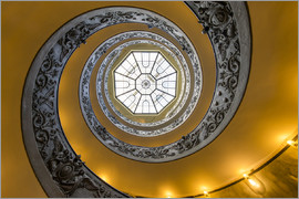 Jan Christopher Becke - Spiral staircase in the Vatican Museum, Italy