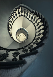Jaroslaw Blaminsky - Spiral staircase in beige and blue