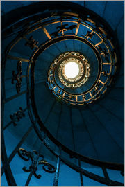 Jaroslaw Blaminsky - Spiral staircase in blue colors