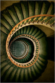Jaroslaw Blaminsky - Spiral staircase in green and brown tones