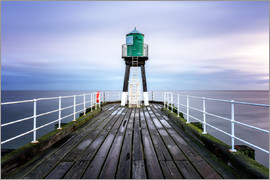 Karen Deakin - Whitby Pier at sunrise, Yorkshire, England, United Kingdom, Europe