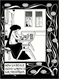 Aubrey Vincent Beardsley - How La Beale Isoud Wrote to Sir Tristram