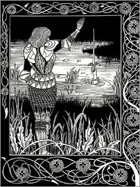 Aubrey Vincent Beardsley - How Sir Bedivere Cast the Sword Excalibur into the Water