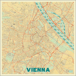 Hubert Roguski - Vienna Map Retro