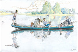Carl Larsson - Viking train in Dalarna