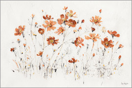 Lisa Audit - Fleurs sauvages I orange