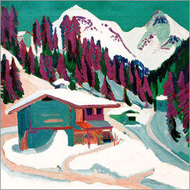 Ernst Ludwig Kirchner - Game floor in the snow