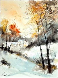 Pol Ledent - watercolor winter